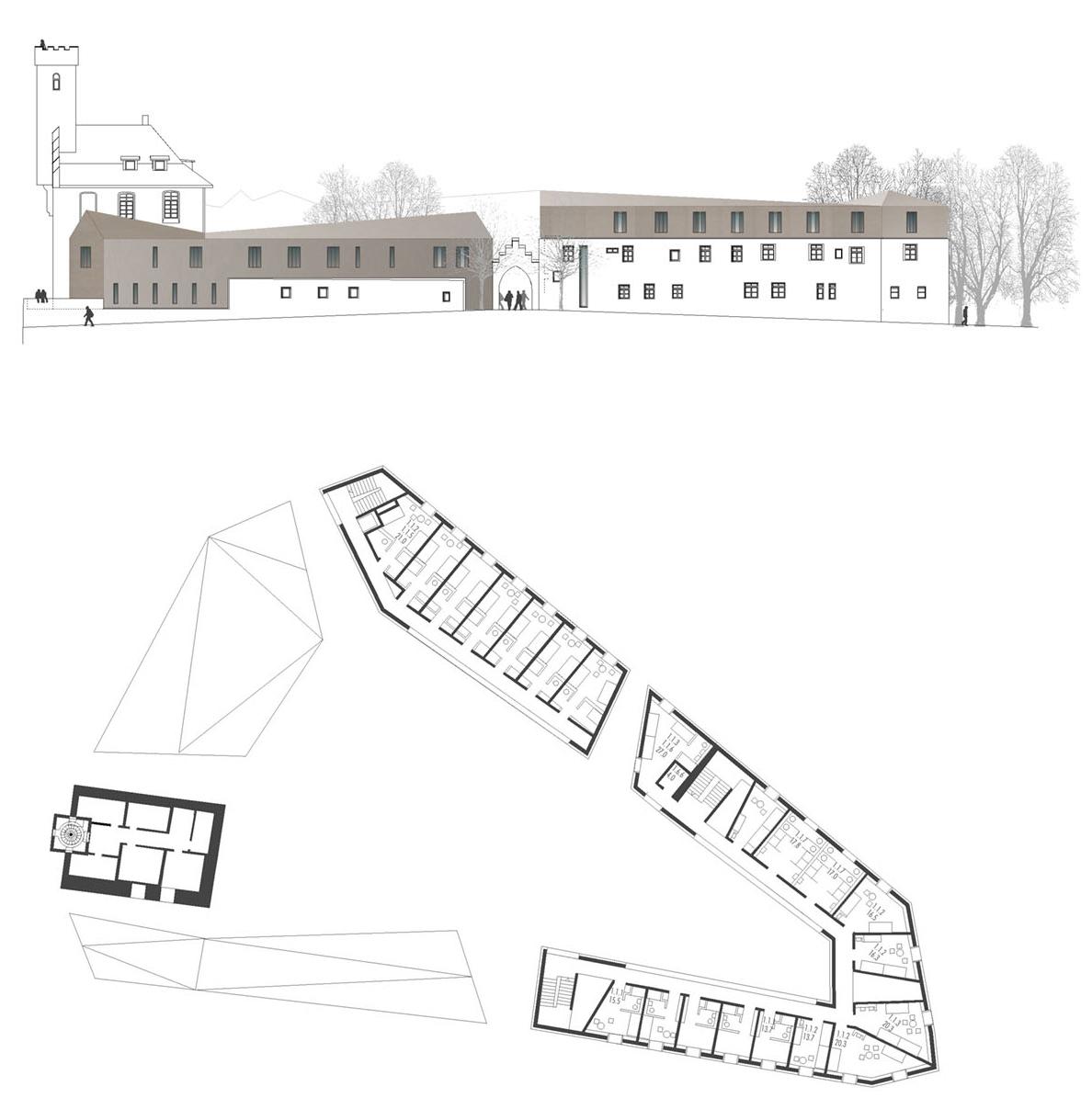 YouthHostel_Veitsburg-Ravensburg_Grundriss_Friedrich-Poerschke-Zwink-Architekten-Muenchen