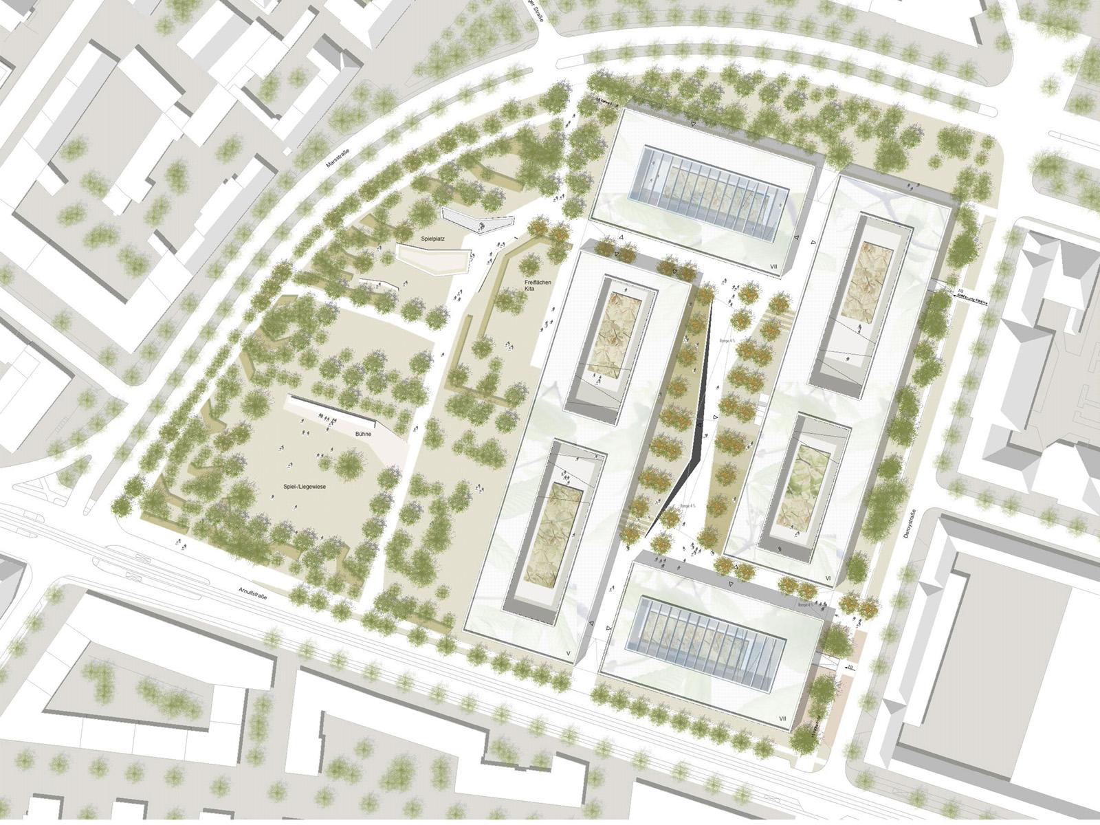 Lageplan_Wettbewerb-Steuerverwaltung-in-Muenchen-Wettbewerb-2.Preis-2008-Friedrich-Poerschke-Zwink-Architekten
