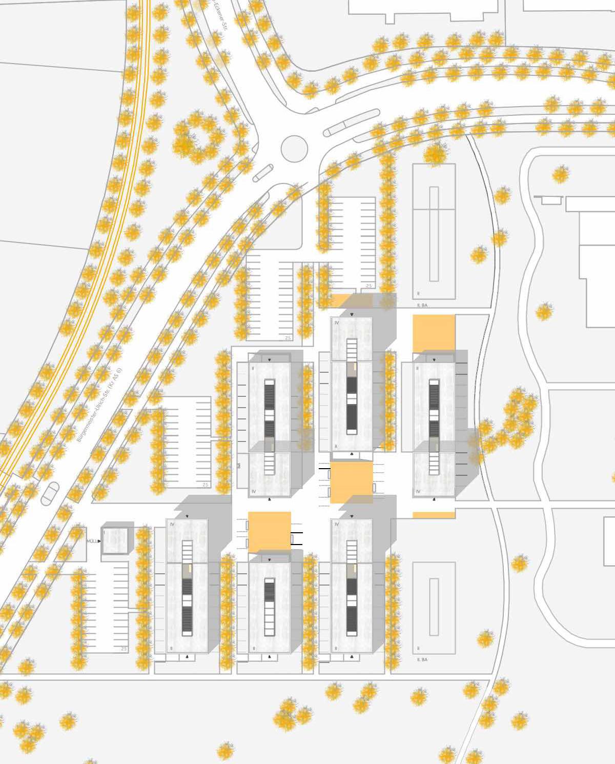 Lageplan-Neubau-eines-Studentenwohnheims-in-Augsburg-Wettbewerb-2009-5thprize-©-Friedrich-Poerschke-Zwink-Architekten