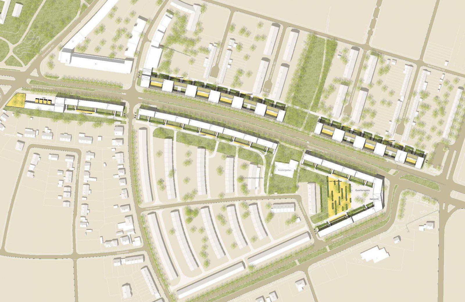 Lageplan-Neubau-Wohnbebauung in der Bad Schachener Strasse in Muenchen-Wettbewerb-Ankauf-2009-Friedrich-Poerschke-Zwink-Architekten