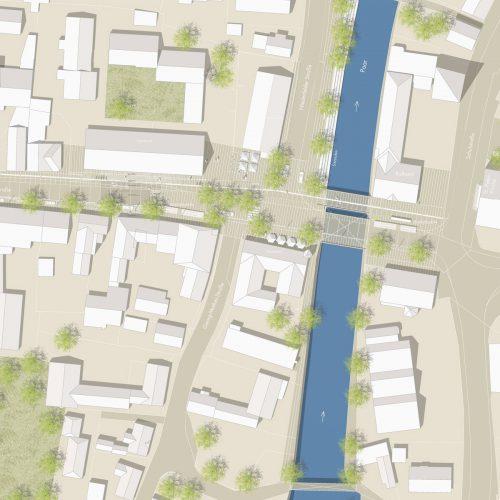 Lageplan1-Neugestaltung-Ingolstädter-Strasse-in-Manching-3.Preis-2011-©-Friedrich-Poerschke-Zwink-Architekten