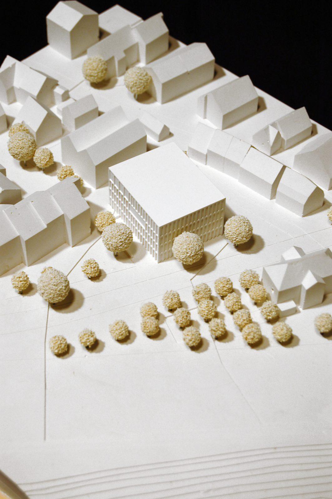 Modell_1-Wettbewerb-Rathaus Altbach-Anerkennung-2016-© Friedrich-Poerschke-Zwink-Architekten