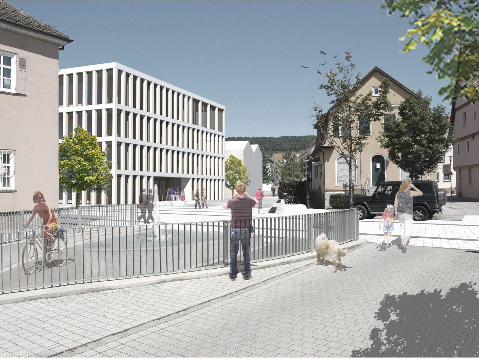 Perspektive-Wettbewerb-Rathaus Altbach-Anerkennung-2016-© Friedrich-Poerschke-Zwink-Architekten