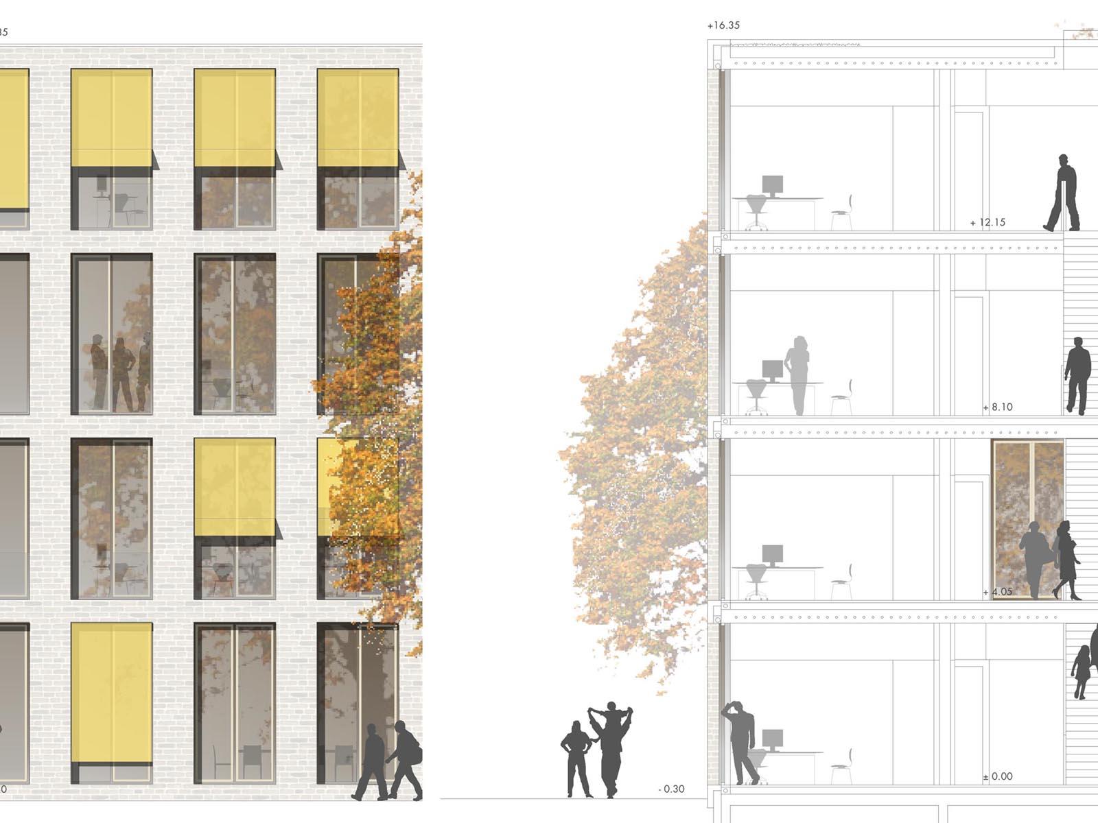 Detail-Neubau-Rathaus-Kolbermoor-Wettbewerb-4.Preis-2010-© Friedrich-Poerschke-Zwink-Architekten
