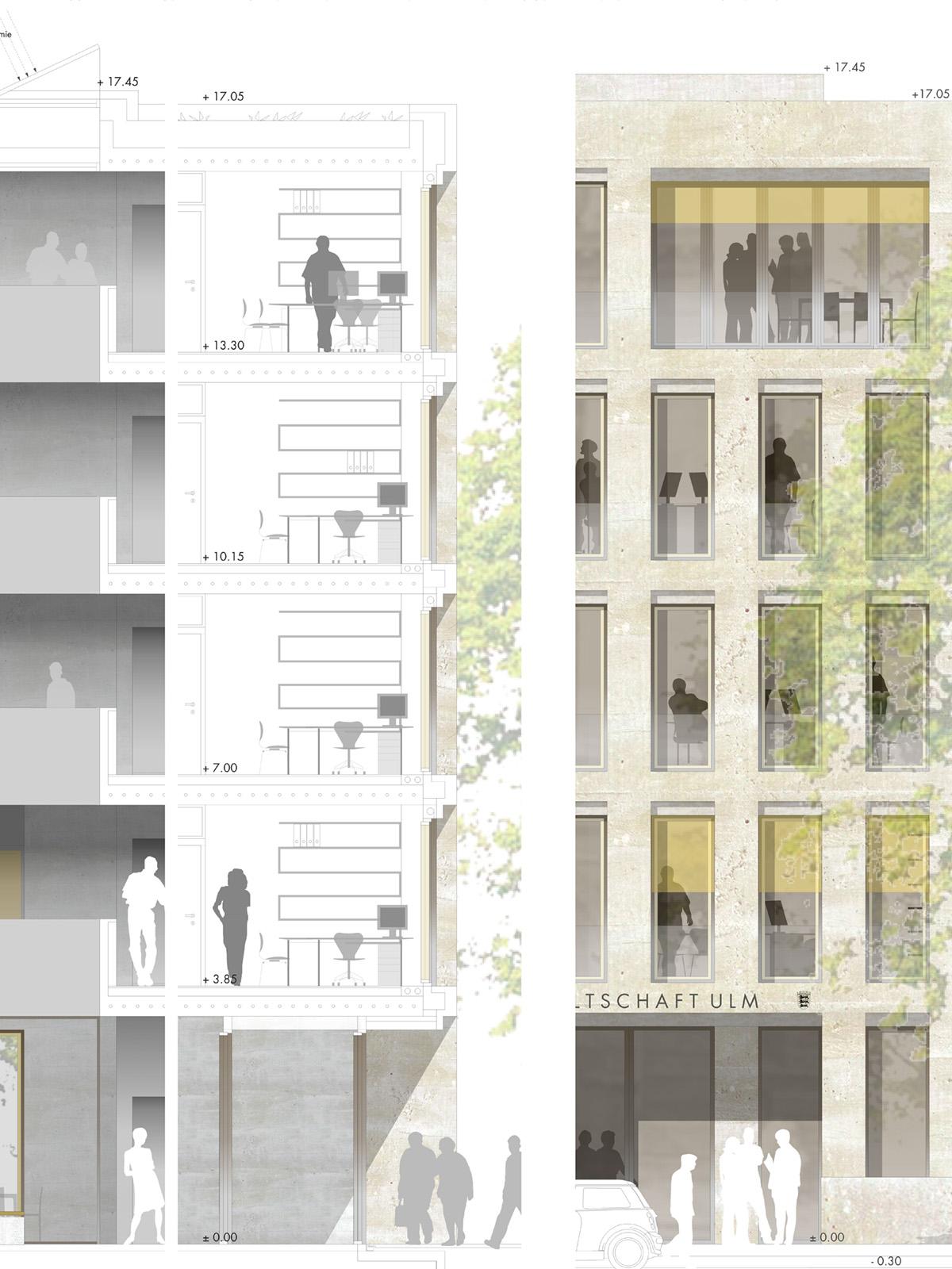 Detail-Wettbewerb-Neubau-Staatanwaltschaft-Ulm-3.Preis-2010-© Friedrich-Poerschke-Zwink-Architekten