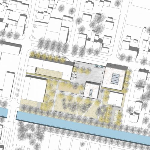 Lageplan-Neubau-Rathaus-Kolbermoor-Wettbewerb-4.Preis-2010-© Friedrich-Poerschke-Zwink-Architekten
