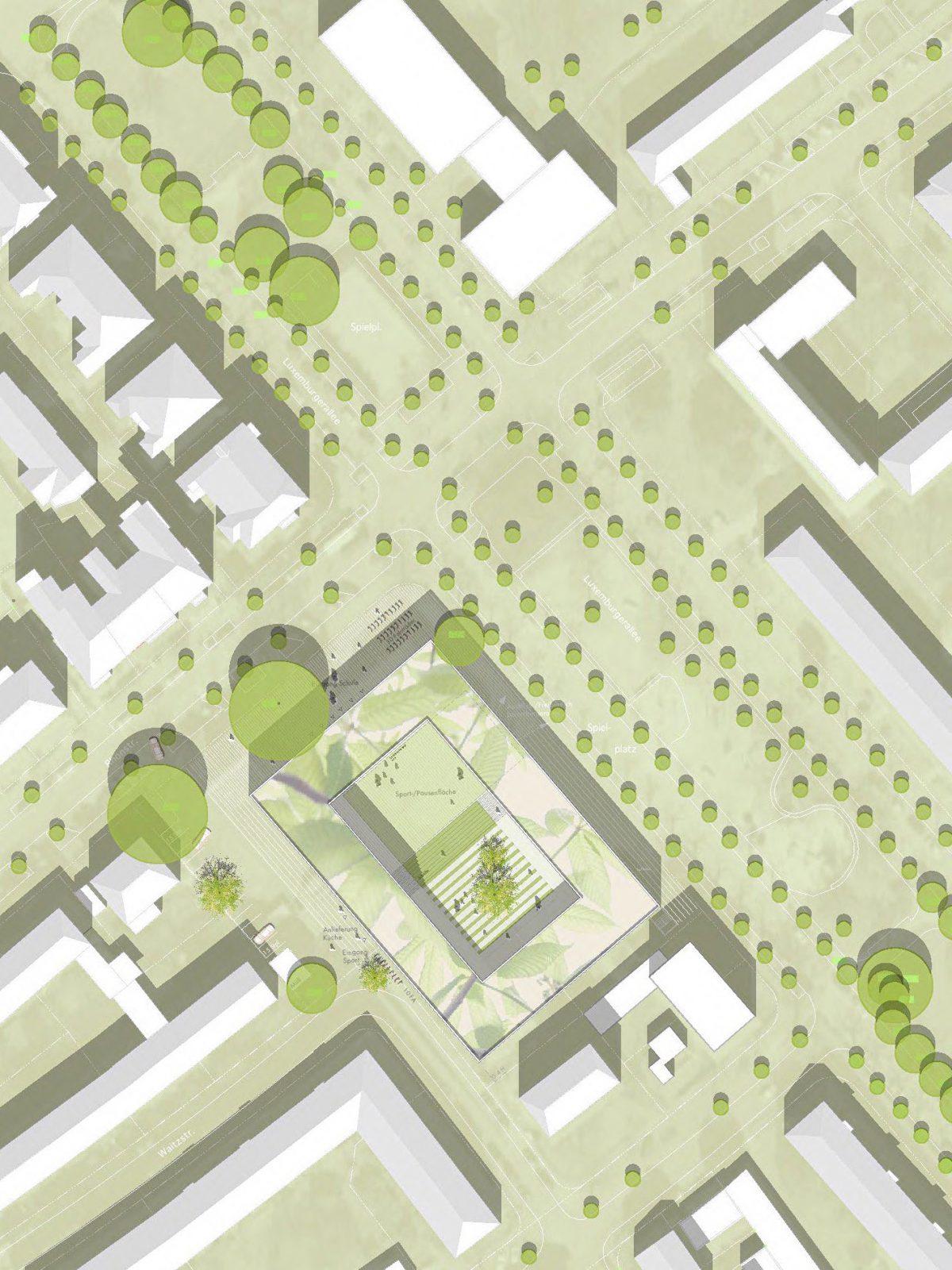 Lageplan-Wettbewerb-Dahlmannschule-Frankfurt-am-Main-4.Preis-2011-© Friedrich-Poerschke-Zwink-Architekten