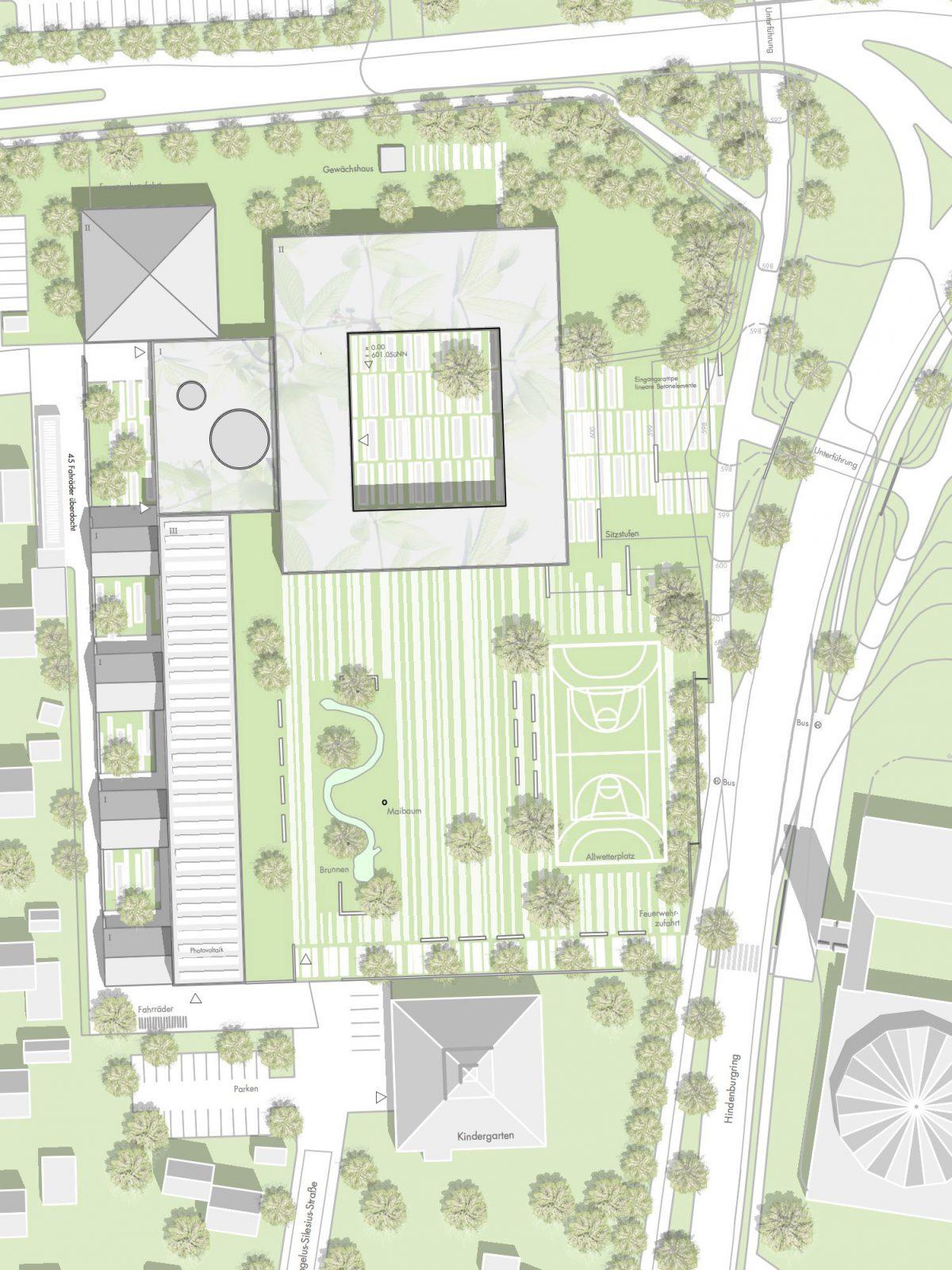 Lageplan-Wettbewerb-Fritz-Beck-Mittelschule_Landsberg-am-Lech-Anerkennung-2013-© Friedrich-Poerschke-Zwink-Architekten