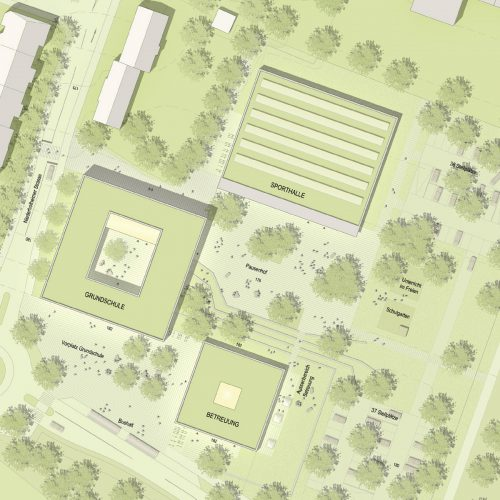 Lageplan-Wettbewerb-Grundschule Bad Soden-4.Preis-2011-© Friedrich-Poerschke-Zwink-Architekten