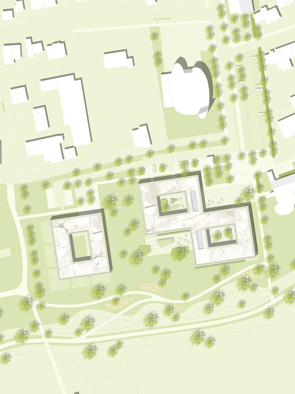 Lageplan-Wettbewerb-Neubau-Seniorenzentrum-Gundelsheim-2.Preis-2010-© Friedrich-Poerschke-Zwink-Architekten