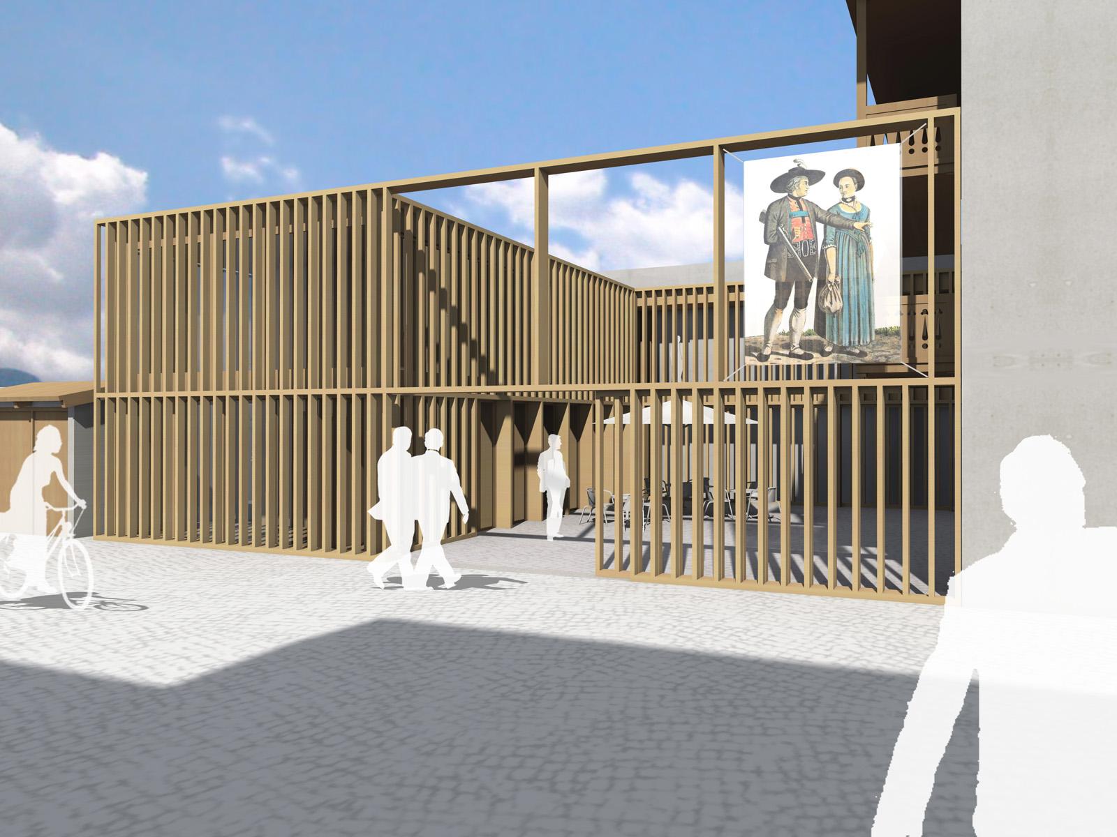 Perspektive-Wettbewerb-Werdenfels-Museum-Garmisch-Partenkirchen-3.Preis-2013-© Friedrich-Poerschke-Zwink-Architekten