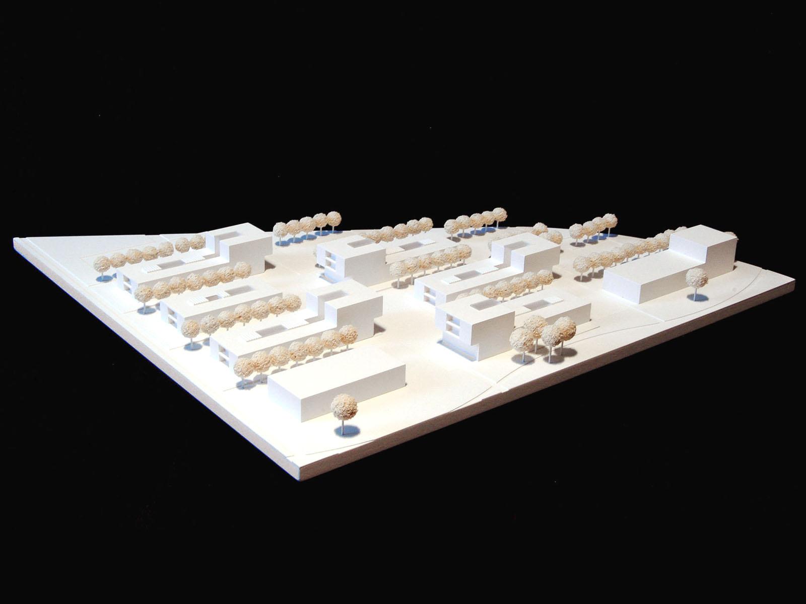 Modell-Neubau eines Studentenwohnheims in Augsburg-Wettbewerb-2009-5.Preis-© Friedrich-Poerschke-Zwink-Architekten