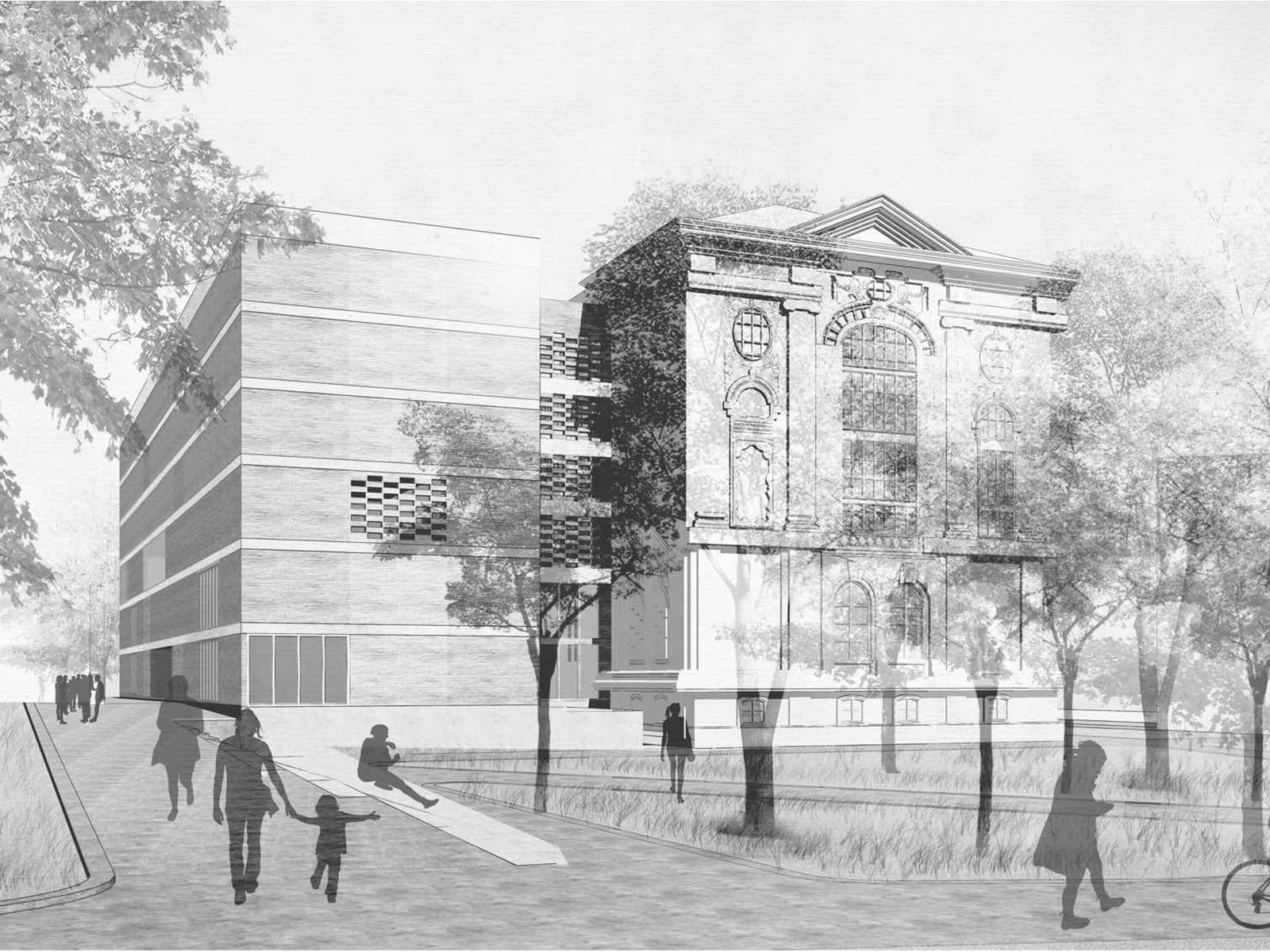 perspektive1-staats-und-stadtbilblothek-augsburg-wettbewerb-2016-2-preis-friedrich-poerschke-zwink-architekten-stadtplaner-mit-kleinsa-cc-88nger-architekten