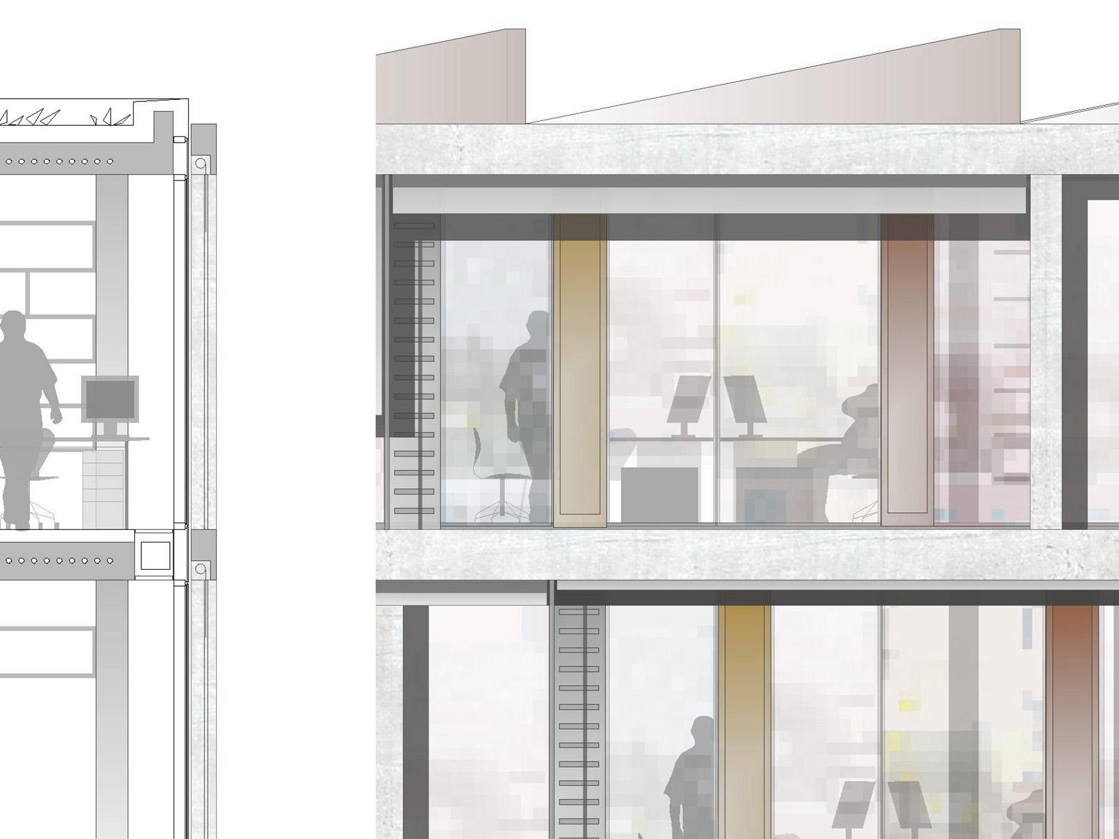 Detail Wettbewerb Steuerverwaltung in Muenchen-Wettbewerb-2.Preis-2008 Friedrich Poerschke Zwink Architekten
