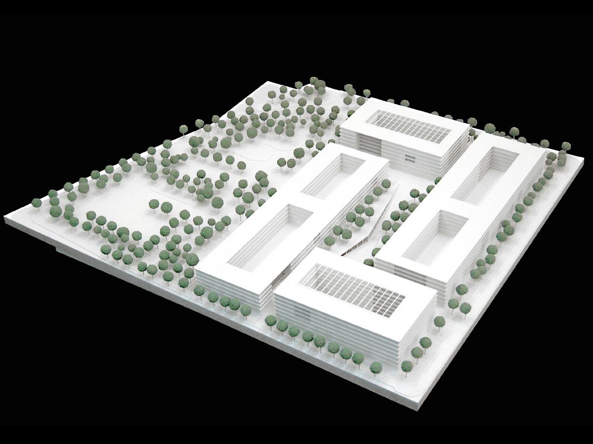 Modell Wettbewerb Steuerverwaltung in Muenchen-Wettbewerb-2.Preis-2008 Friedrich Poerschke Zwink Architekten