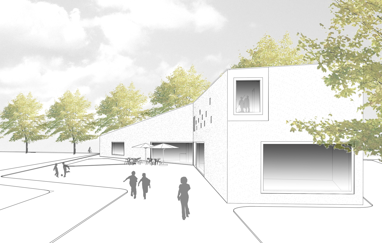 riedrich Poerschke Zwink_Realisierungswettbewerb Jugendzentrum Landsberg am Lech 1.Preis_Perspektive